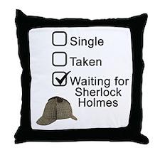Waiting for Sherlock Throw Pillow