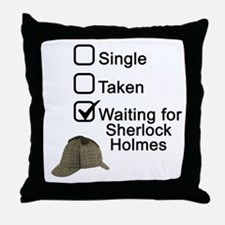 Waiting for Sherlock Throw Pillow