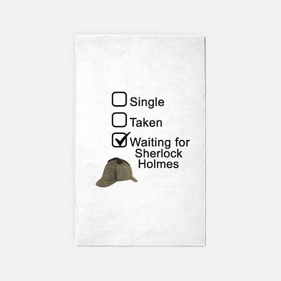 Waiting for Sherlock 3'x5' Area Rug