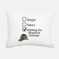 Waiting for Sherlock Rectangular Canvas Pillow