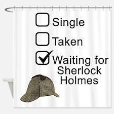 Waiting for Sherlock Shower Curtain