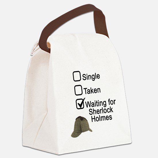Waiting for Sherlock Canvas Lunch Bag