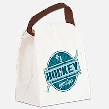 #1 Hockey Grandpa Canvas Lunch Bag