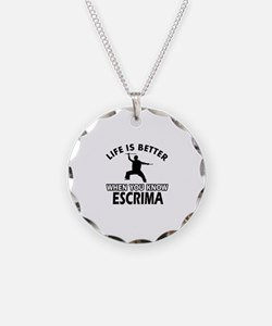 Escrima Vector designs Necklace