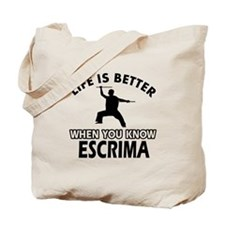 Escrima Vector designs Tote Bag