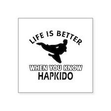 """Hapkido Vector designs Square Sticker 3"""" x 3"""""""