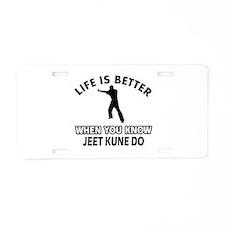 Jeet Kune Do Vector designs Aluminum License Plate