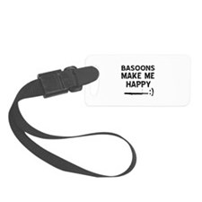 Basoons musical instrument designs Luggage Tag