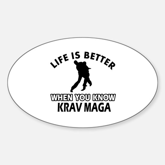 Krav Maga Vector designs Sticker (Oval)