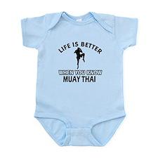 Muay Thai Vector designs Infant Bodysuit