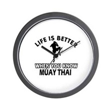 Muay Thai Vector designs Wall Clock