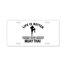 Muay Thai Vector designs Aluminum License Plate