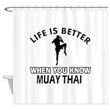 Muay Thai Vector designs Shower Curtain