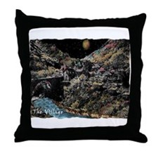 the enchanted village Throw Pillow