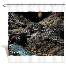 the enchanted village Shower Curtain