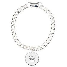 Flutes musical instrument designs Charm Bracelet,