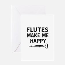 Flutes musical instrument designs Greeting Card