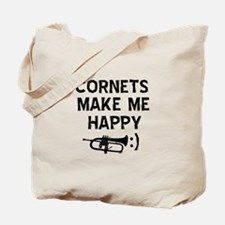 Cornets musical instrument designs Tote Bag