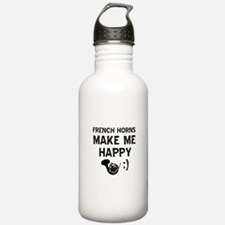 French Horns musical instrument designs Water Bottle