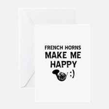 French Horns musical instrument designs Greeting C