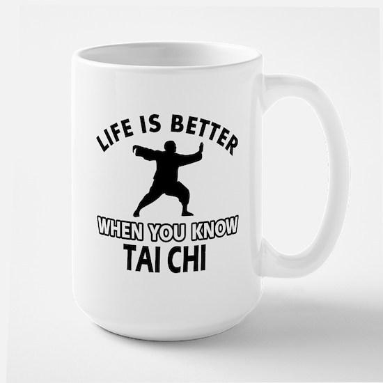 Tai Chi Vector designs Large Mug