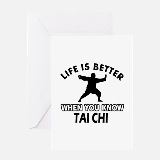 Tai Chi Vector designs Greeting Card