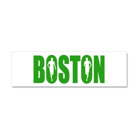 Boston Green Car Magnet 10 x 3