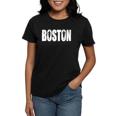 Boston White Women's Dark T-Shirt