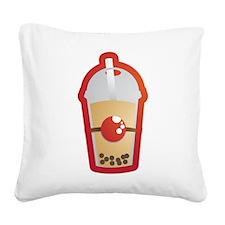Bubble Tea Square Canvas Pillow