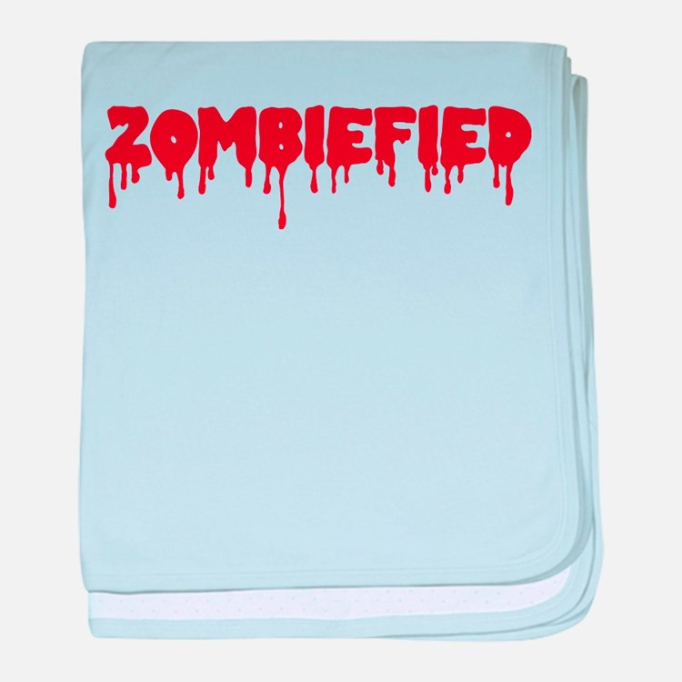 Zombie zombiefied baby blanket