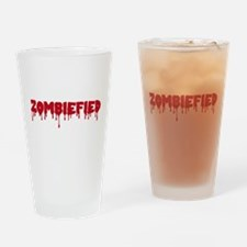 Zombie zombiefied Drinking Glass