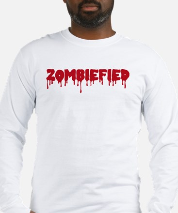Zombie zombiefied Long Sleeve T-Shirt