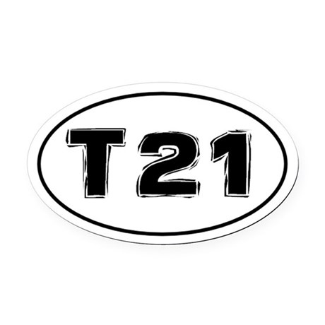 Trisomy 21 (Down Syndrome) Awareness Car Oval Car