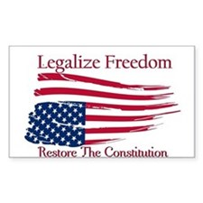 Legalize Freedom, Restore the Constiution Decal