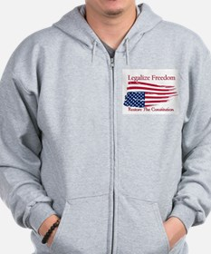 Legalize Freedom, Restore the Constiution Zip Hoodie
