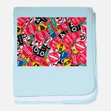 Signs, Signs, Everywhere a Sign baby blanket