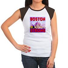 Boston Strong Skyline Women's Cap Sleeve T-Shirt