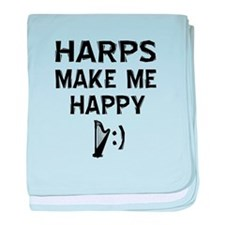 Harps musical instrument designs baby blanket