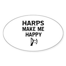 Harps musical instrument designs Decal