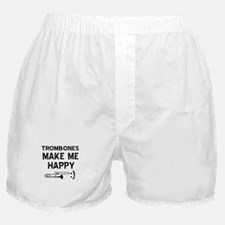 Trombones musical instrument designs Boxer Shorts