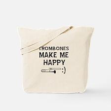 Trombones musical instrument designs Tote Bag