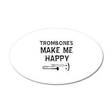 Trombones musical instrument designs Wall Decal