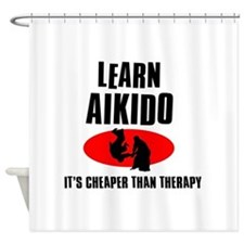 Aikido silhouette designs Shower Curtain