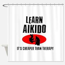 Aikido silhouette designs Shower Curtain