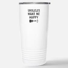 Ukukeles musical instrument designs Travel Mug