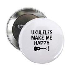 "Ukukeles musical instrument designs 2.25"" Button ("