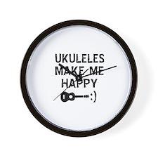 Ukukeles musical instrument designs Wall Clock