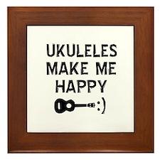 Ukukeles musical instrument designs Framed Tile