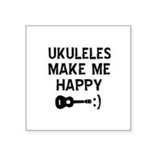 Ukukeles musical instrument designs Square Sticker