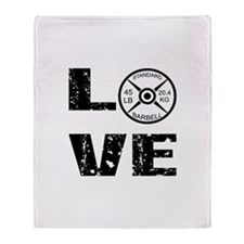 Love Lifting Weights Throw Blanket